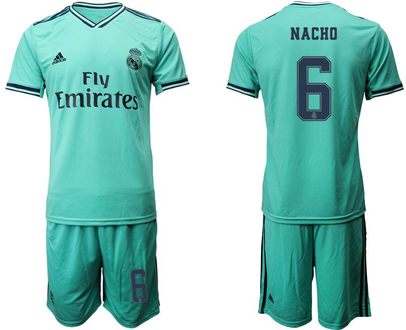 Men 2019-2020 club Real Madrid away 6 green Soccer Jerseys