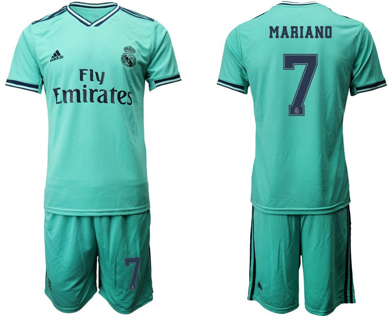 Men 2019-2020 club Real Madrid away 7 green Soccer Jerseys