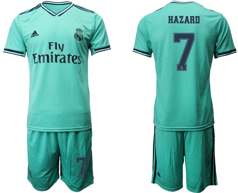 Men 2019-2020 club Real Madrid away 7 green Soccer Jerseys2