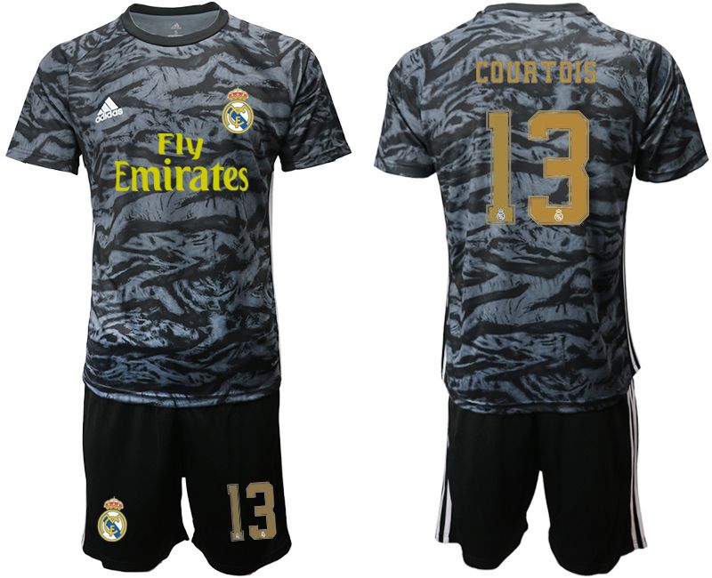 Men 2019-2020 club Real Madrid black goalkeeper 13 Soccer Jerseys