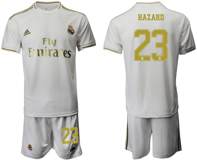 Men 2019-2020 club Real Madrid home 23 white Soccer Jerseys