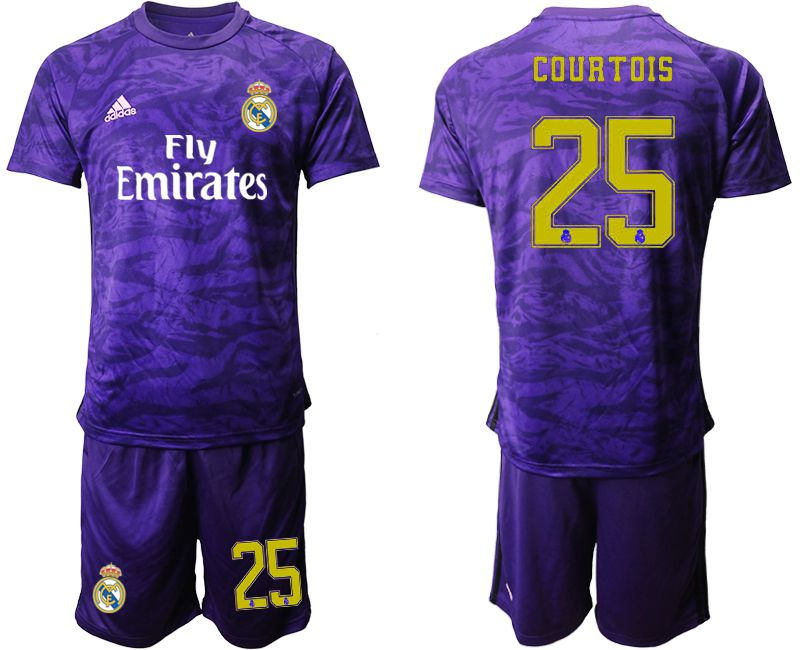Men 2019-2020 club Real Madrid purple Goalkeeper 25 Soccer Jerseys