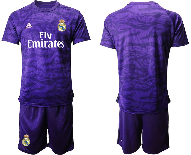 Men 2019-2020 club Real Madrid purple Goalkeeper Soccer Jerseys