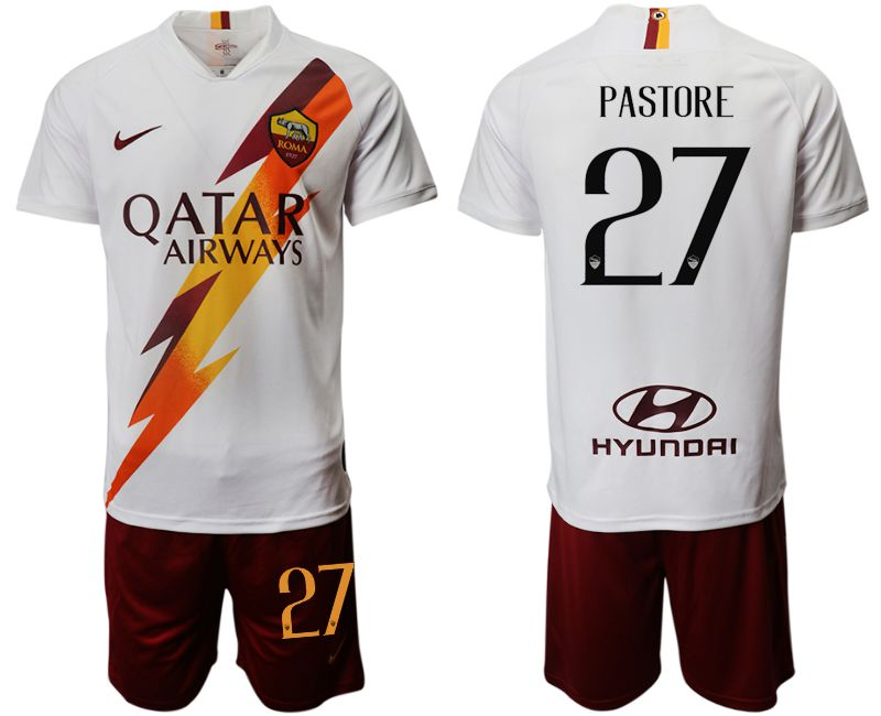 Men 2019-2020 club Rome away 27 white Soccer Jerseys