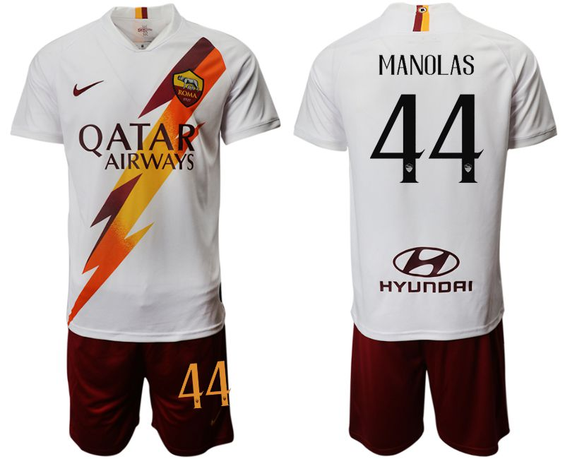 Men 2019-2020 club Rome away 44 white Soccer Jerseys