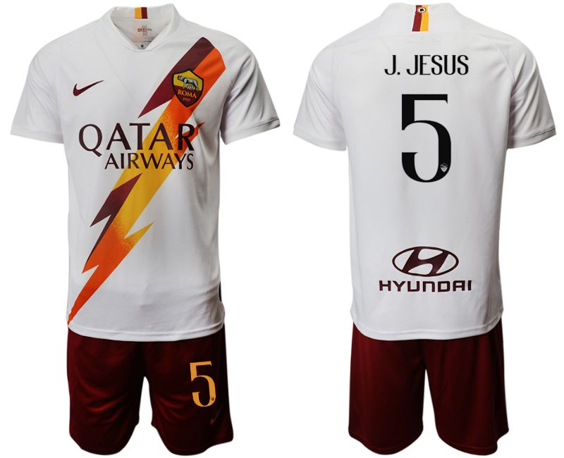 Men 2019-2020 club Rome away 5 white Soccer Jerseys