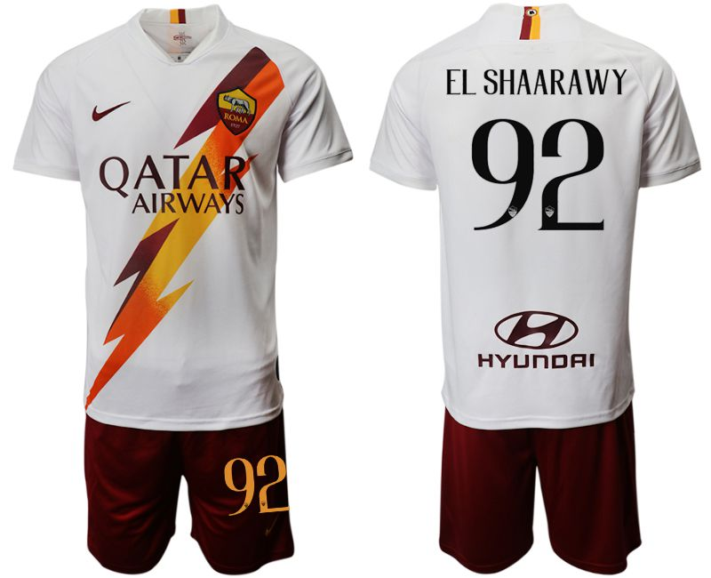 Men 2019-2020 club Rome away 92 white Soccer Jerseys