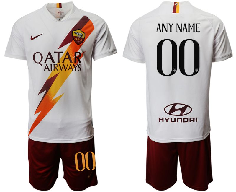 Men 2019-2020 club Rome away customized white Soccer Jerseys