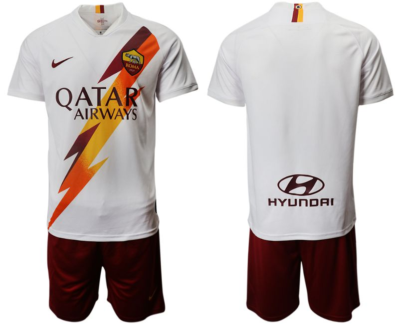 Men 2019-2020 club Rome away white Soccer Jerseys