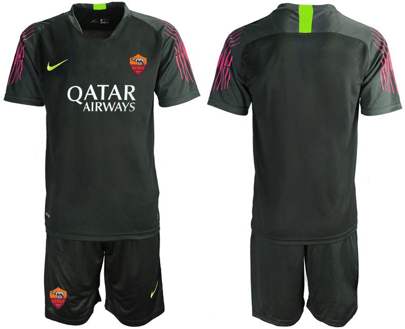 Men 2019-2020 club Rome black goalkeeper Soccer Jerseys
