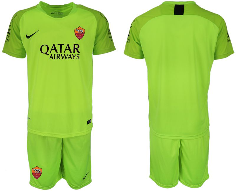 Men 2019-2020 club Rome fluorescent green goalkeeper Soccer Jerseys