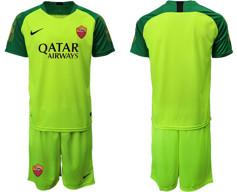 Men 2019-2020 club Rome fluorescent green goalkeeper Soccer Jerseys1
