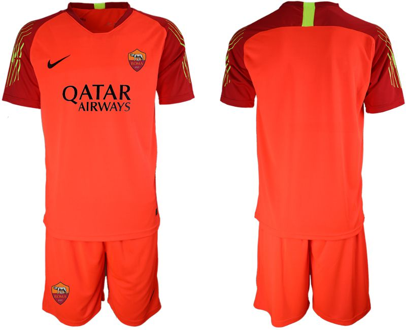 Men 2019-2020 club Rome orange red goalkeeper Soccer Jerseys