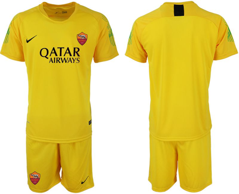 Men 2019-2020 club Rome yellow goalkeeper Soccer Jerseys