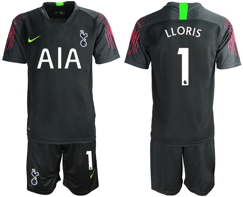 Men 2019-2020 club Tottenham Hotspur Football Club black goalkeeper 1 Soccer Jerseys