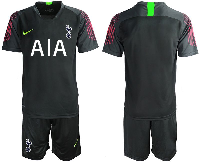 Men 2019-2020 club Tottenham Hotspur Football Club black goalkeeper Soccer Jerseys