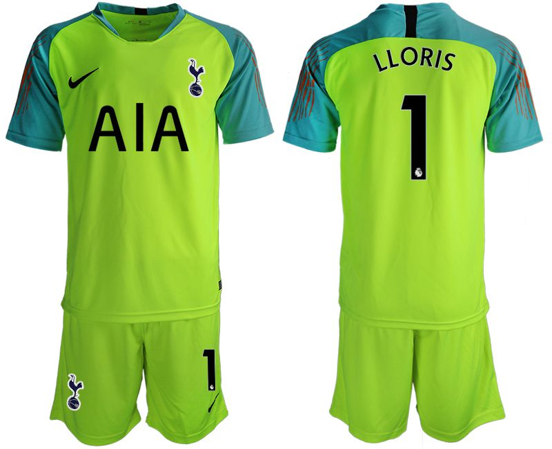 Men 2019-2020 club Tottenham Hotspur Football Club fluorescent green goalkeeper 1 Soccer Jerseys