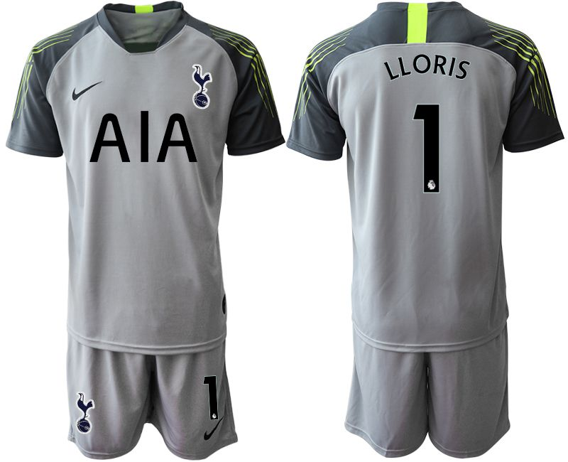 Men 2019-2020 club Tottenham Hotspur Football Club gray goalkeeper 1 Soccer Jerseys