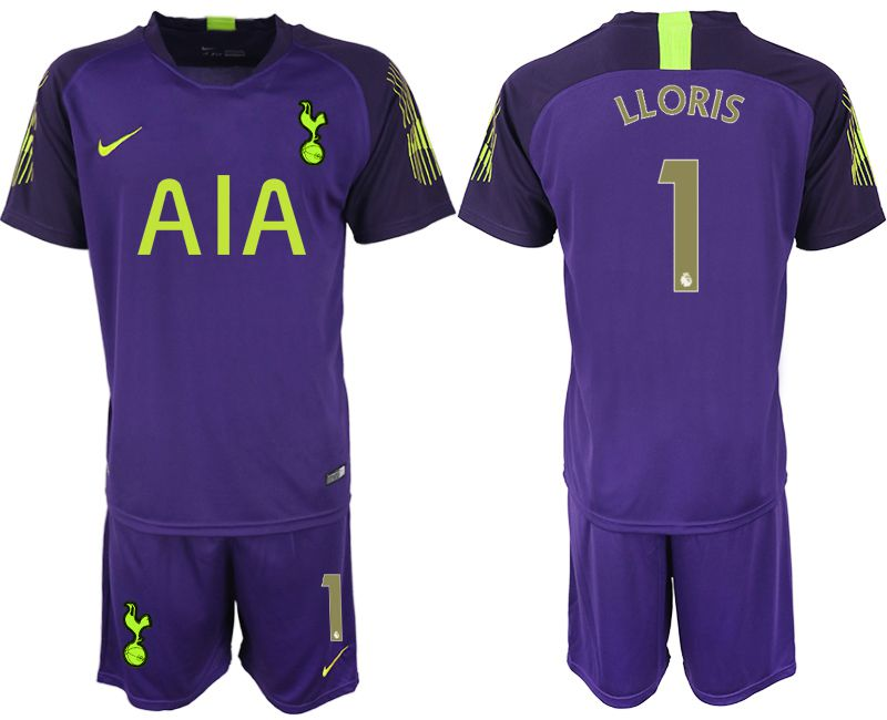 Men 2019-2020 club Tottenham Hotspur Football Club purple goalkeeper 1 Soccer Jerseys