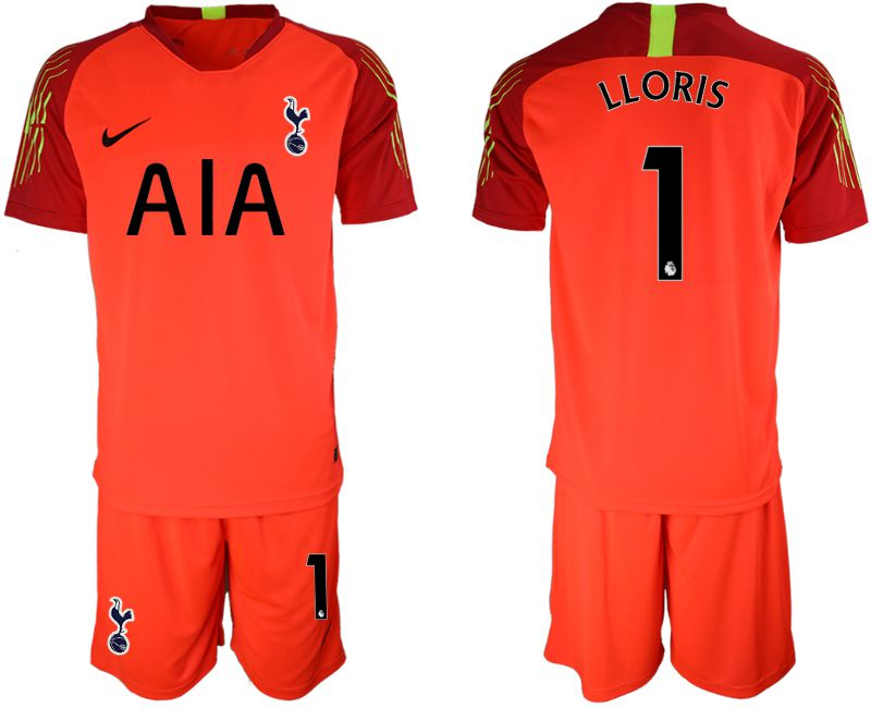 Men 2019-2020 club Tottenham Hotspur Football Club red goalkeeper 1 Soccer Jerseys