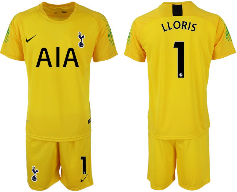 Men 2019-2020 club Tottenham Hotspur Football Club yellow goalkeeper 1 Soccer Jerseys