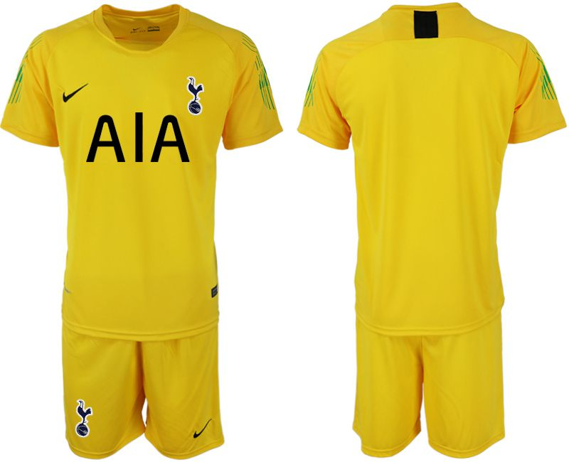 Men 2019-2020 club Tottenham Hotspur Football Club yellow goalkeeper Soccer Jerseys