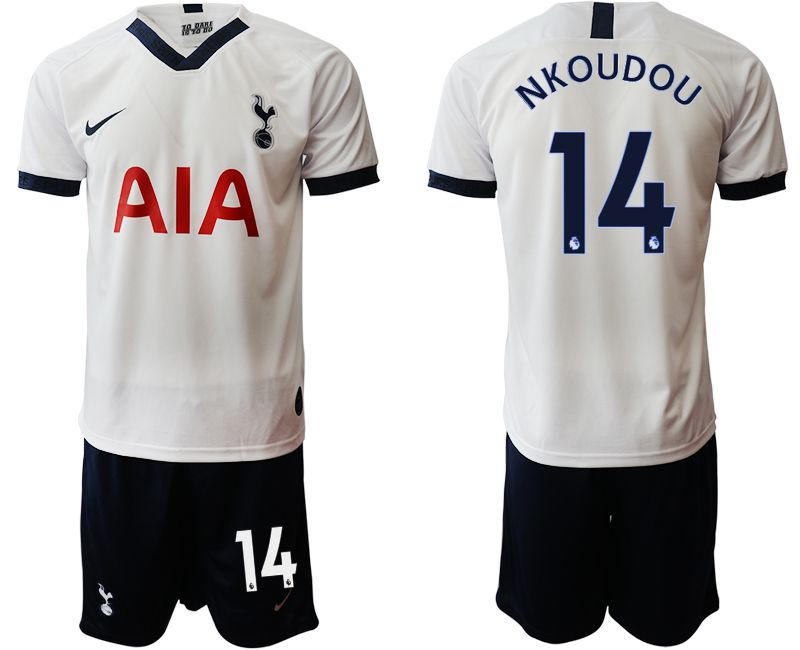 Men 2019-2020 club Tottenham Hotspur home 14 white Soccer Jerseys