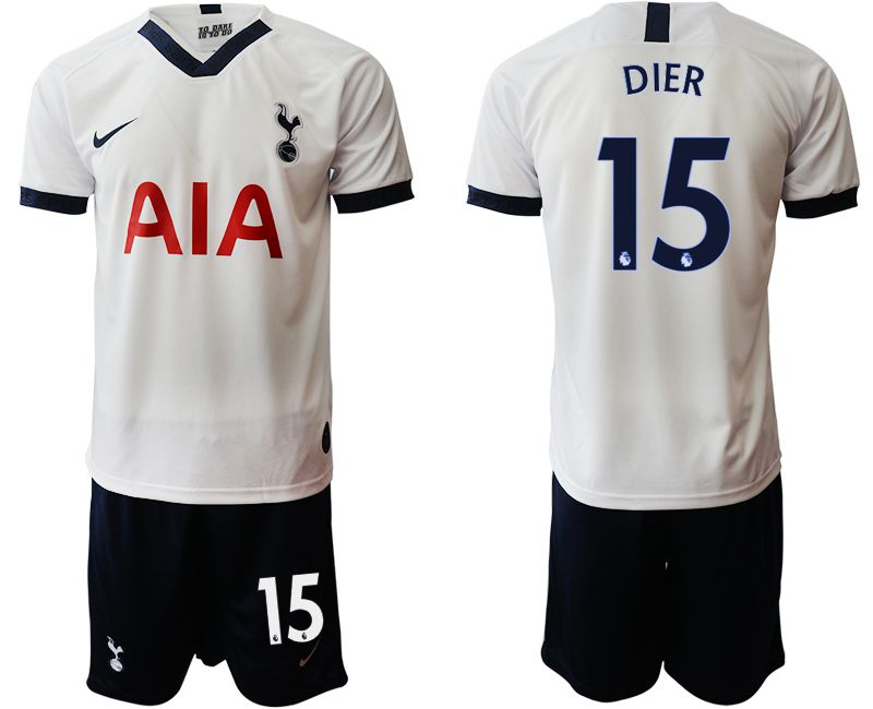 Men 2019-2020 club Tottenham Hotspur home 15 white Soccer Jerseys