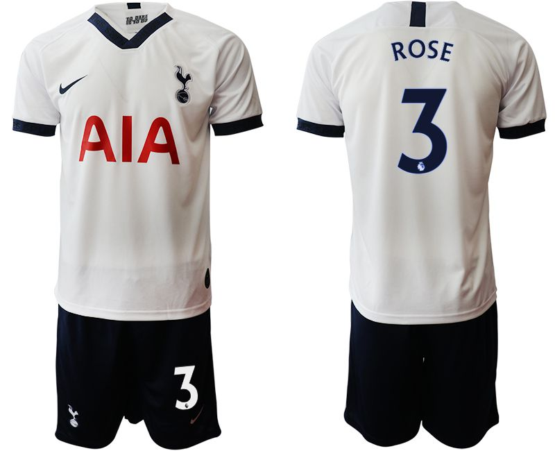 Men 2019-2020 club Tottenham Hotspur home 3 white Soccer Jerseys