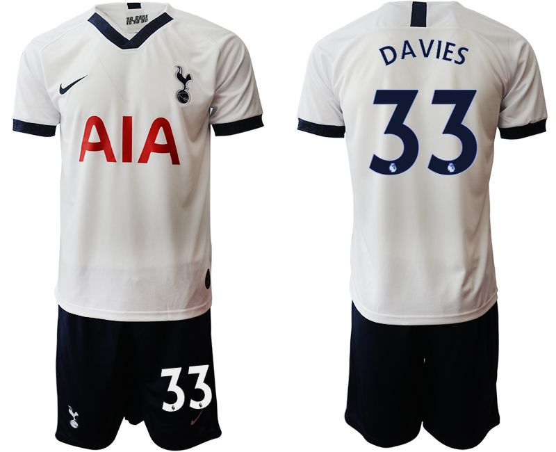 Men 2019-2020 club Tottenham Hotspur home 33 white Soccer Jerseys