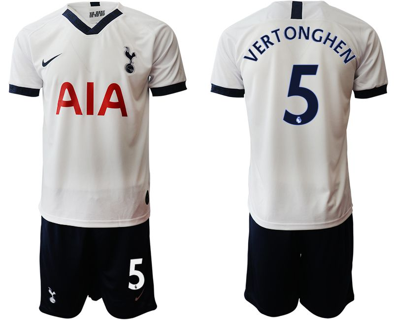 Men 2019-2020 club Tottenham Hotspur home 5 white Soccer Jerseys
