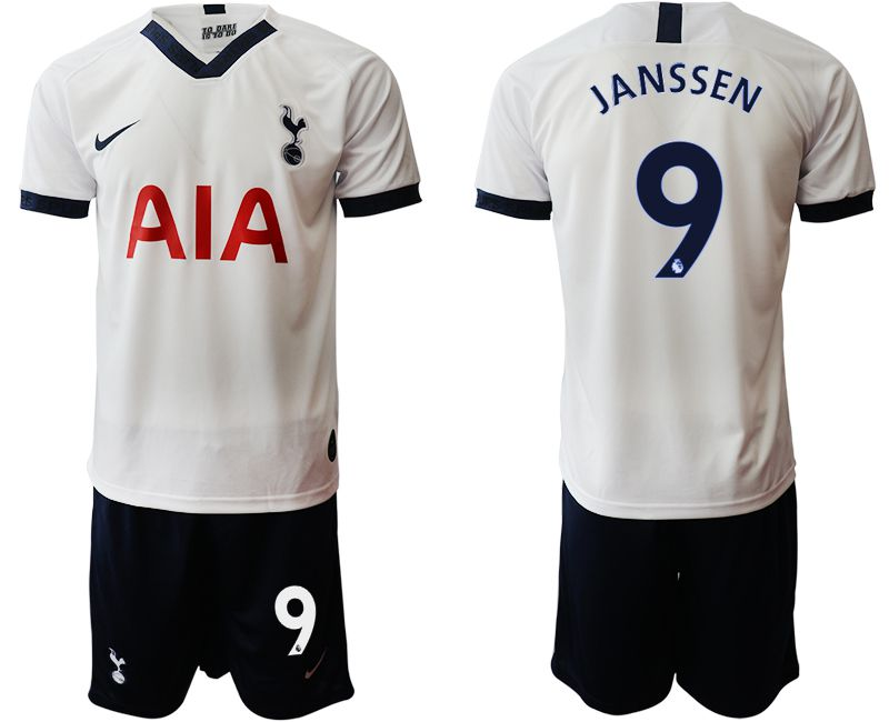 Men 2019-2020 club Tottenham Hotspur home 9 white Soccer Jerseys