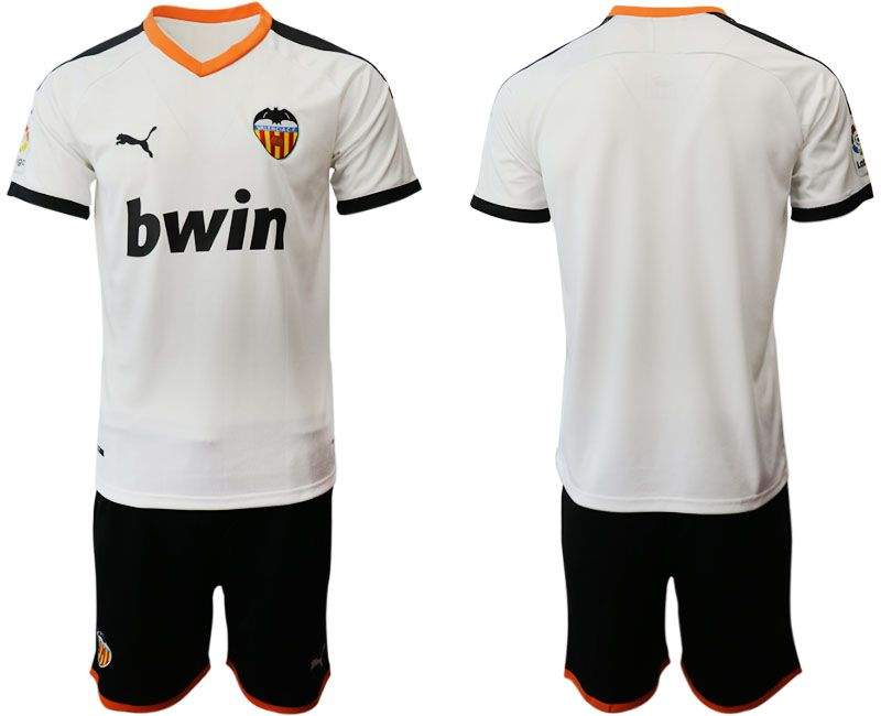 Men 2019-2020 club Valencia CF home white Soccer Jerseys