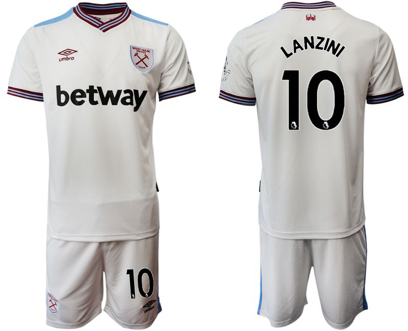 Men 2019-2020 club West Ham United home 10 white Soccer Jerseys