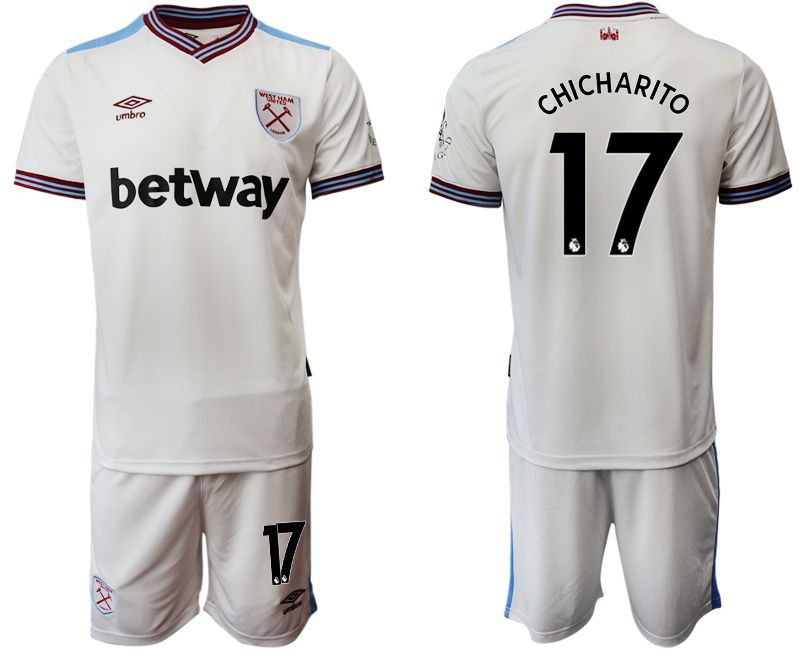 Men 2019-2020 club West Ham United home 17 white Soccer Jerseys