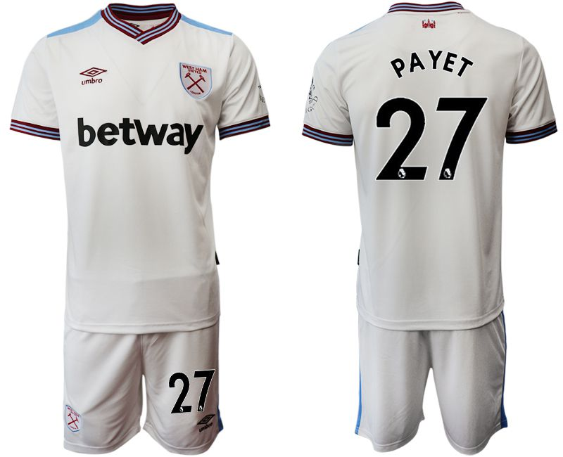 Men 2019-2020 club West Ham United home 27 white Soccer Jerseys