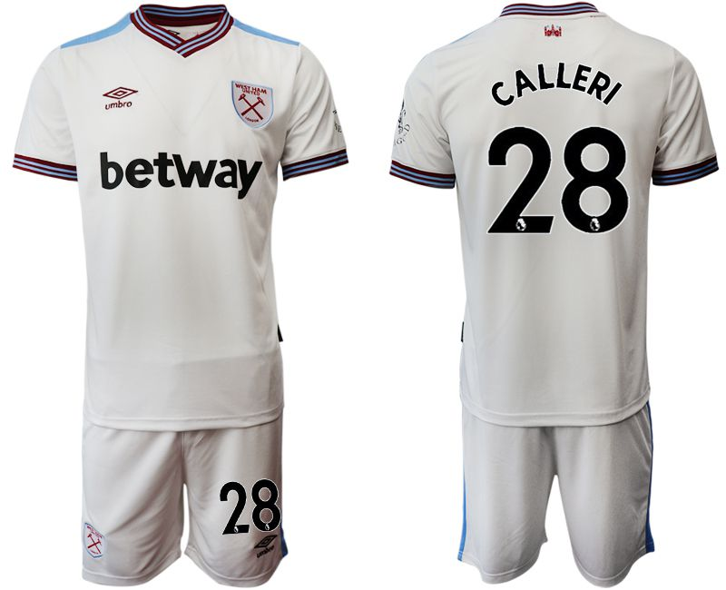 Men 2019-2020 club West Ham United home 28 white Soccer Jerseys