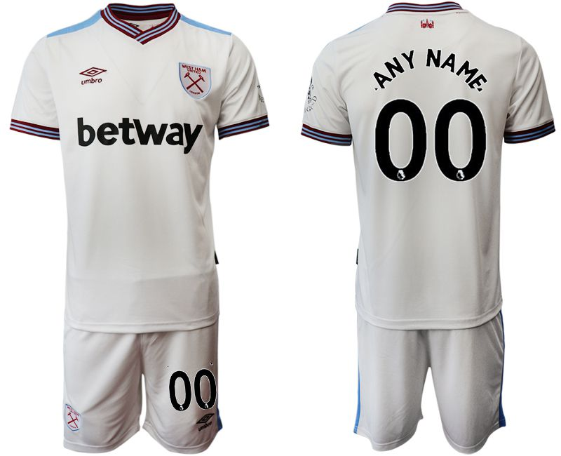 Men 2019-2020 club West Ham United home customized white Soccer Jerseys