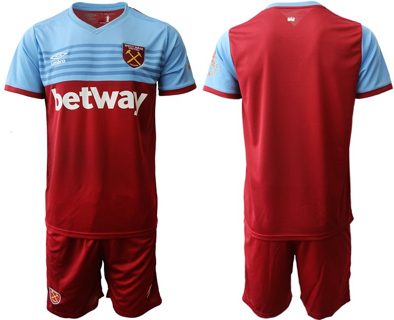 Men 2019-2020 club West Ham United home red Soccer Jerseys