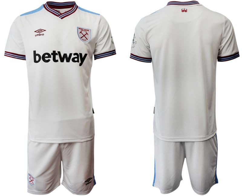 Men 2019-2020 club West Ham United home white Soccer Jerseys