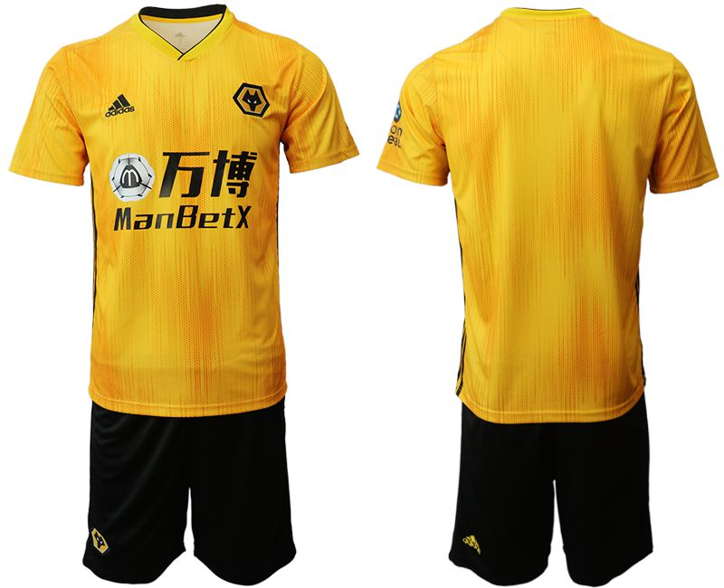 Men 2019-2020 club Wolverhampton Wanderers yellow Soccer Jerseys