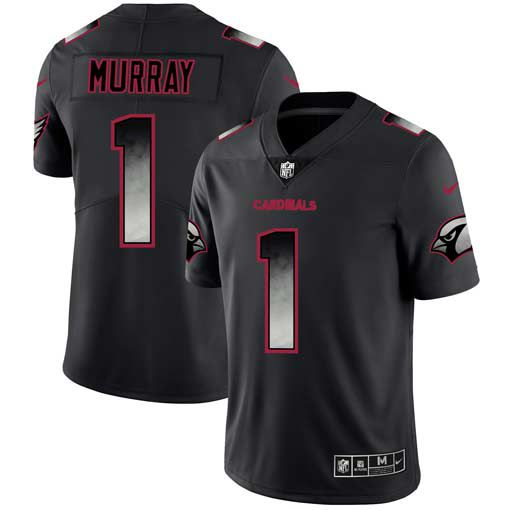 Men Arizona Cardinals 1 Murray Nike Teams Black Smoke Fashion Limited NFL Jerseys