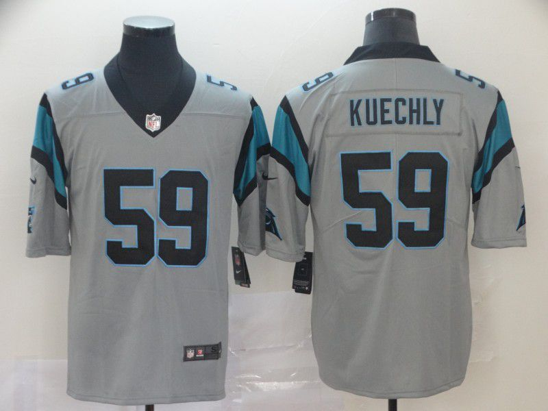 Men Carolina Panthers 59 Kuechly 2019 Vapor Untouchable Nike Gray Inverted Legend NFL Jerseys