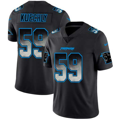 Men Carolina Panthers 59 Kuechly Nike Teams Black Smoke Fashion Limited NFL Jerseys
