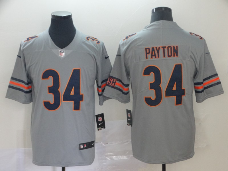 Men Chicago Bears 34 Payton Grey Nike Limited NFL Jerseys