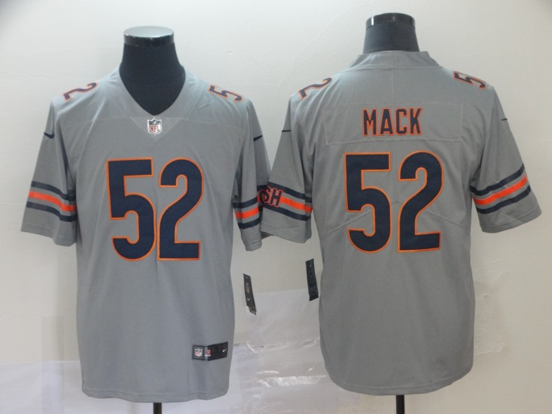 Men Chicago Bears 52 Mack Grey Nike Limited NFL Jerseys