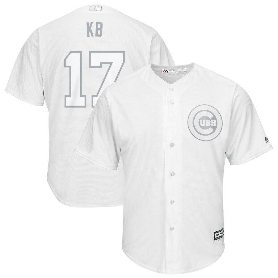 Men Chicago Cubs 17 Kb white MLB Jerseys