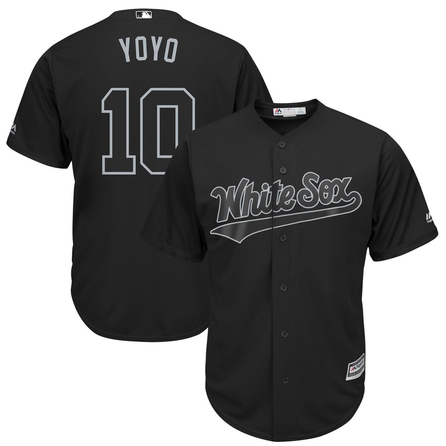 Men Chicago White Sox 10 Yoyo black MLB Jerseys