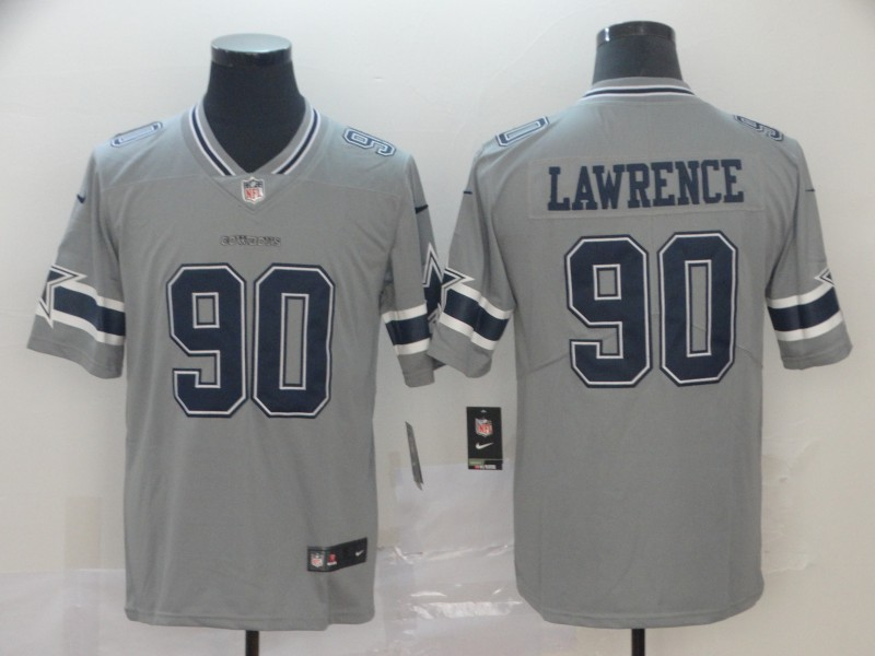 Men Dallas Cowboys 90 Lawrence Nike grey Limited NFL Jersey