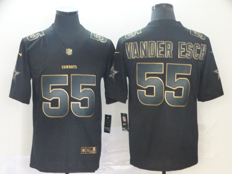 Men Dallas cowboys 55 Vander esch Nike Vapor Limited Black Golden NFL Jerseys